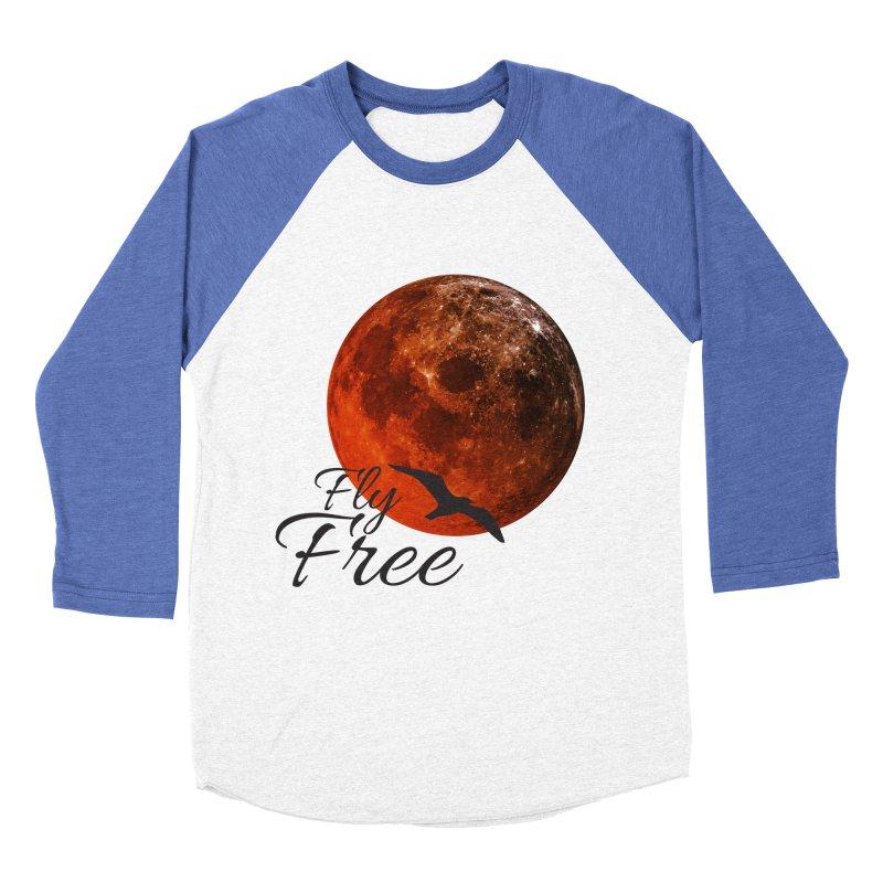 Fly Free Men's Baseball Triblend Longsleeve T-Shirt by Magic Pixel's Artist Shop