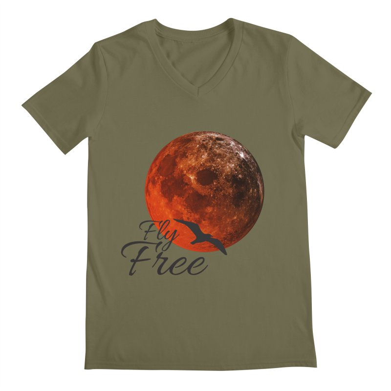Fly Free Men's Regular V-Neck by Magic Pixel's Artist Shop