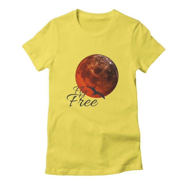 Fly Free Women's T-Shirt by Magic Pixel's Artist Shop