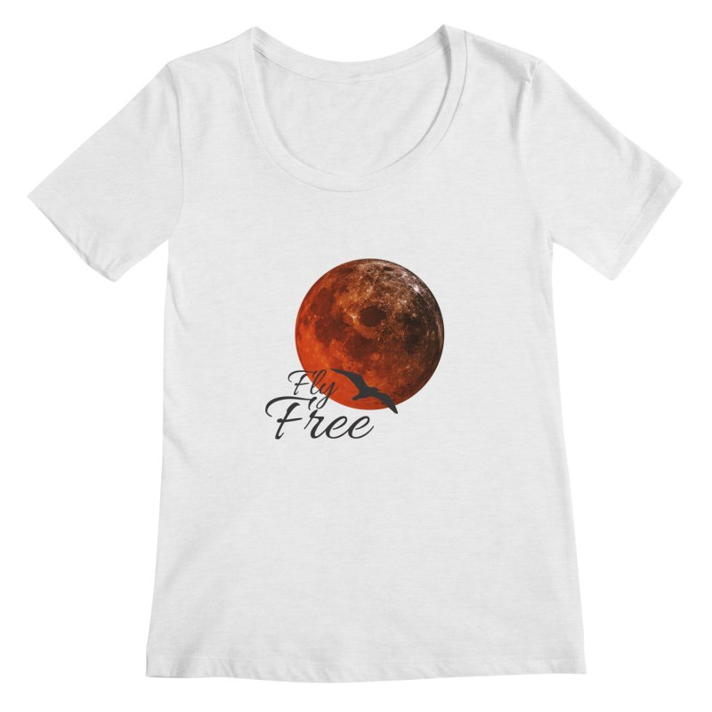 Fly Free Women's Regular Scoop Neck by Magic Pixel's Artist Shop