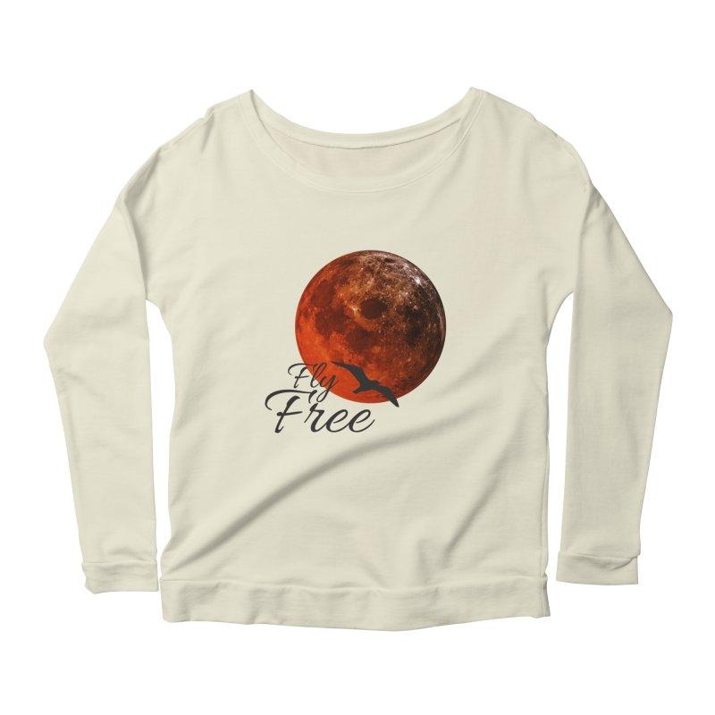 Fly Free Women's Scoop Neck Longsleeve T-Shirt by Magic Pixel's Artist Shop