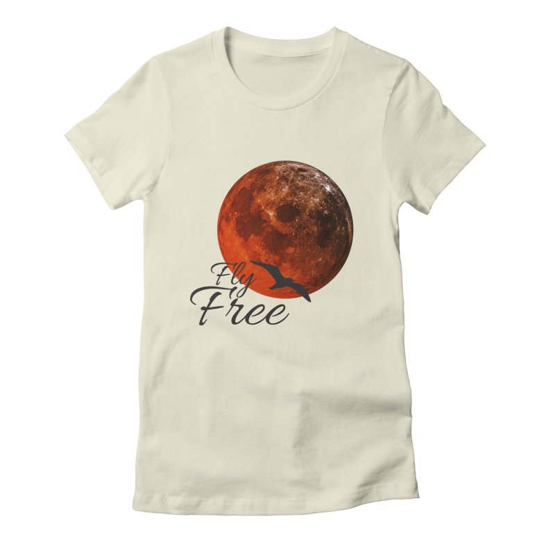 Fly Free Women's Fitted T-Shirt by Magic Pixel's Artist Shop