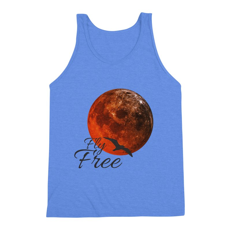 Fly Free Men's Triblend Tank by Magic Pixel's Artist Shop