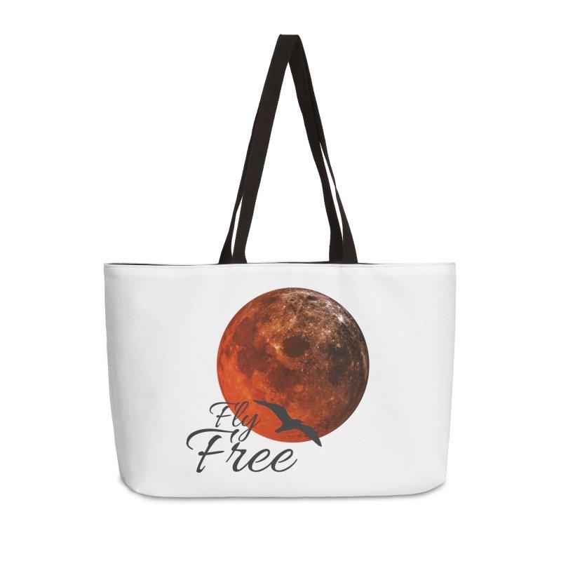 Fly Free Accessories Weekender Bag Bag by Magic Pixel's Artist Shop