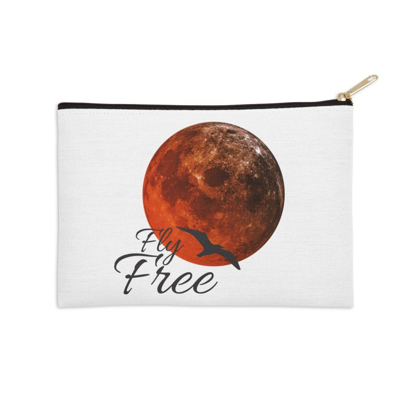 Fly Free Accessories Zip Pouch by Magic Pixel's Artist Shop