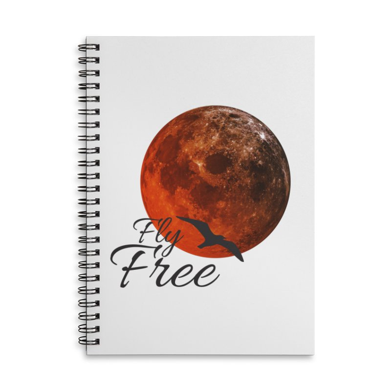 Fly Free Accessories Lined Spiral Notebook by Magic Pixel's Artist Shop