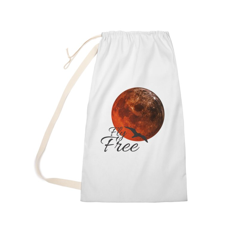 Fly Free Accessories Laundry Bag Bag by Magic Pixel's Artist Shop