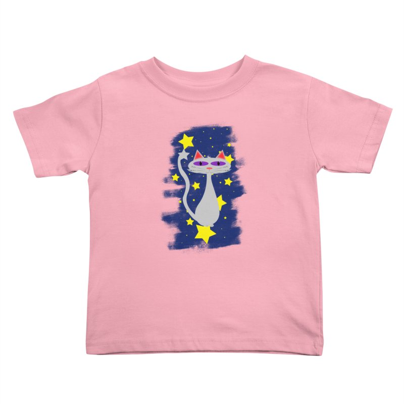 Princess Meera in the night sky Kids Toddler T-Shirt by Magic Pixel's Artist Shop