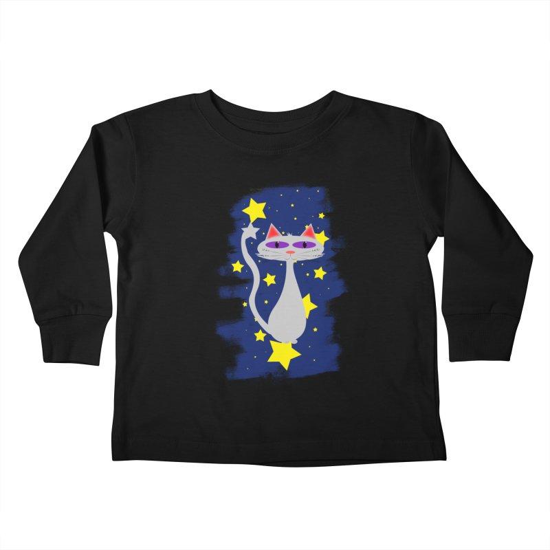 Princess Meera in the night sky Kids Toddler Longsleeve T-Shirt by Magic Pixel's Artist Shop