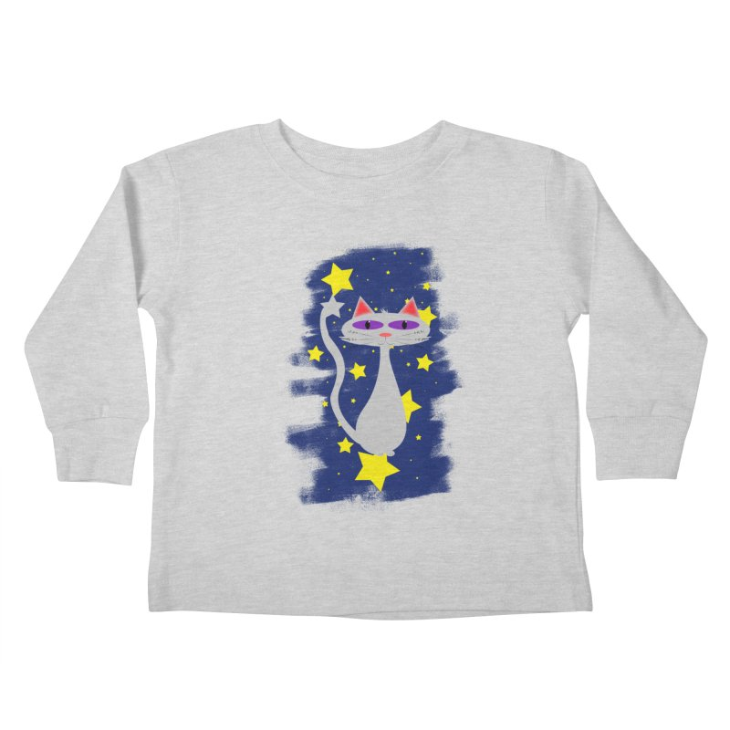 Princess Meera in the night sky Kids Toddler Longsleeve T-Shirt by Magic Pixel's Artist Shop