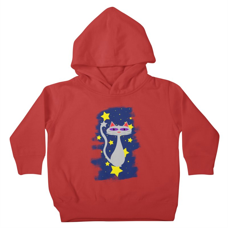 Princess Meera in the night sky Kids Toddler Pullover Hoody by Magic Pixel's Artist Shop