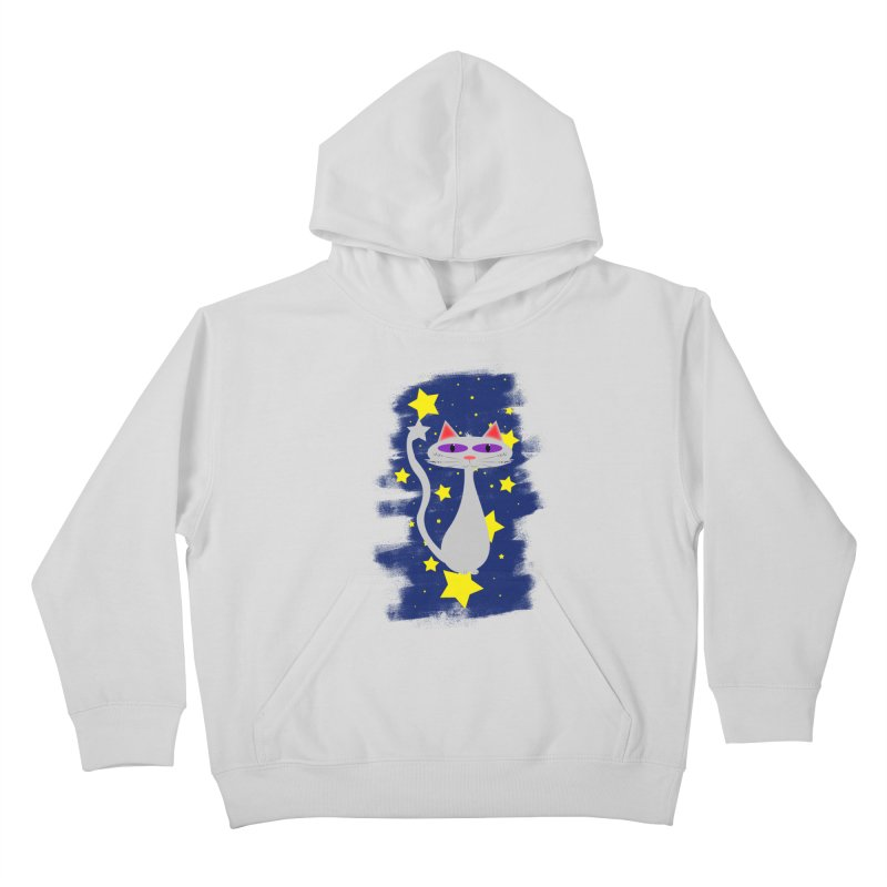 Princess Meera in the night sky Kids Pullover Hoody by Magic Pixel's Artist Shop