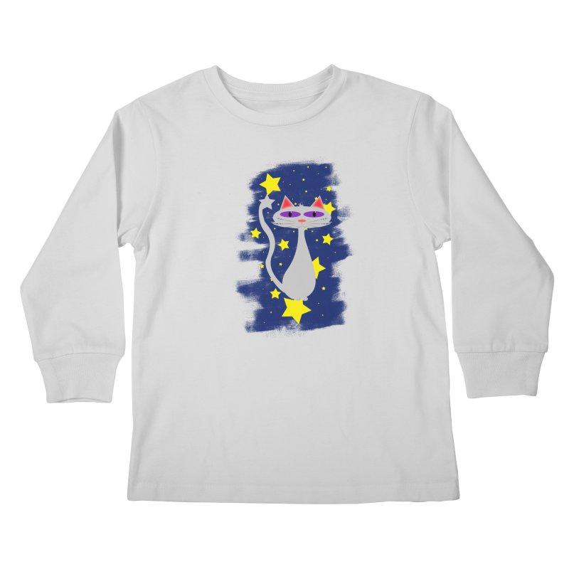 Princess Meera in the night sky Kids Longsleeve T-Shirt by Magic Pixel's Artist Shop