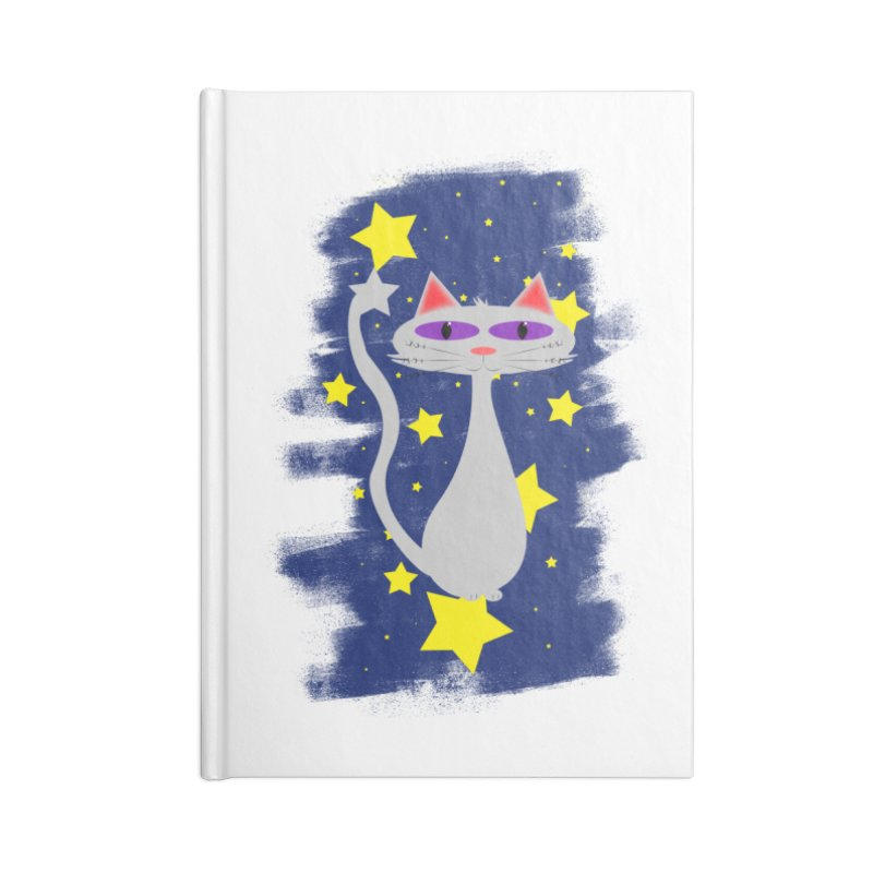 Princess Meera in the night sky Accessories Blank Journal Notebook by Magic Pixel's Artist Shop