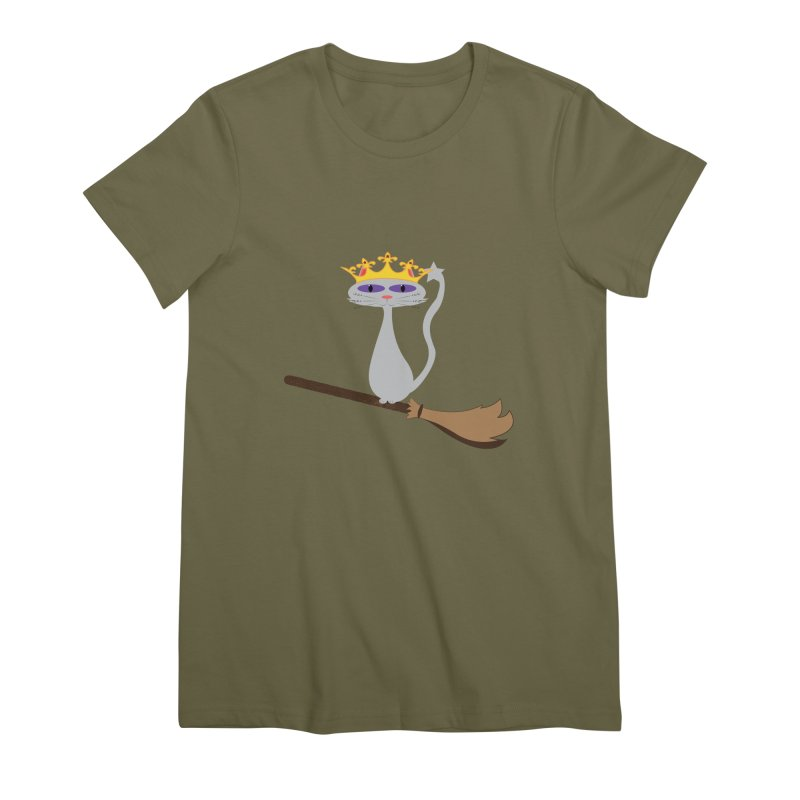 Princess Meera on a Broomstick Women's Premium T-Shirt by Magic Pixel's Artist Shop