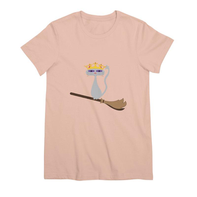 Princess Meera on a Broomstick Women's Premium T-Shirt by Magic Pixel's Artist Shop