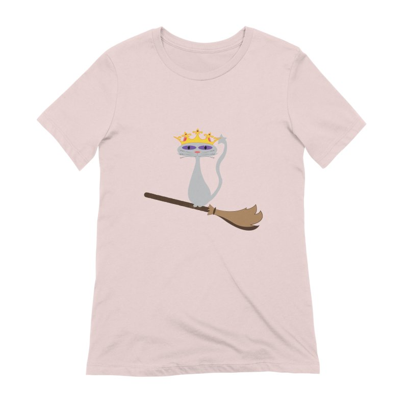 Princess Meera on a Broomstick Women's Extra Soft T-Shirt by Magic Pixel's Artist Shop