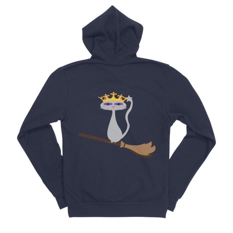 Princess Meera on a Broomstick Women's Sponge Fleece Zip-Up Hoody by Magic Pixel's Artist Shop