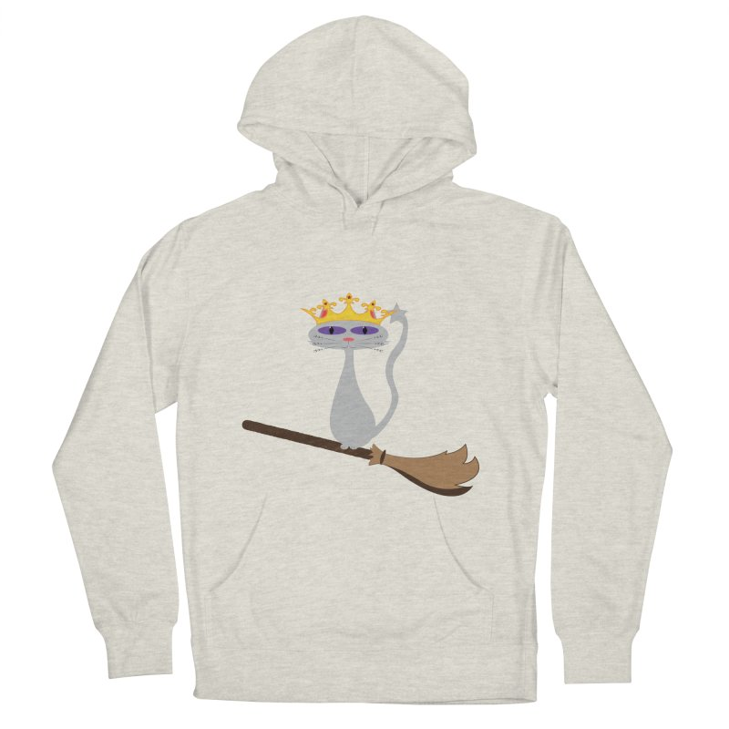 Princess Meera on a Broomstick Women's French Terry Pullover Hoody by Magic Pixel's Artist Shop