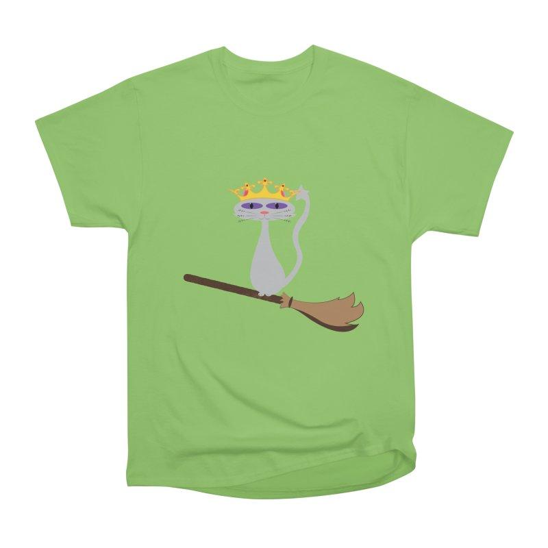 Princess Meera on a Broomstick Women's Heavyweight Unisex T-Shirt by Magic Pixel's Artist Shop