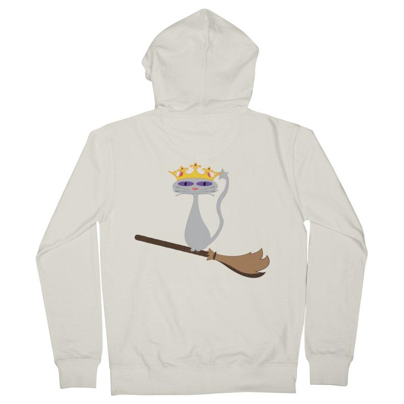Princess Meera on a Broomstick Women's French Terry Zip-Up Hoody by Magic Pixel's Artist Shop