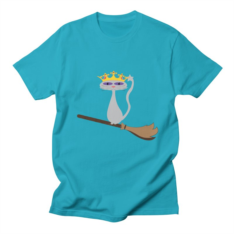 Princess Meera on a Broomstick Women's Regular Unisex T-Shirt by Magic Pixel's Artist Shop