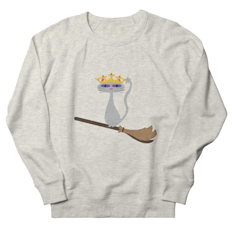 Princess Meera on a Broomstick Women's French Terry Sweatshirt by Magic Pixel's Artist Shop