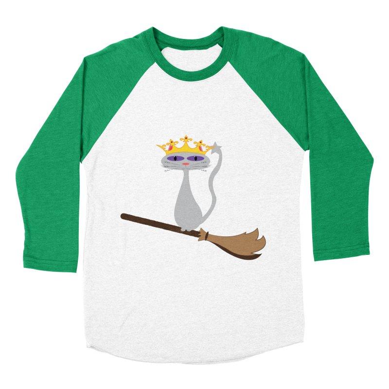 Princess Meera on a Broomstick Women's Baseball Triblend Longsleeve T-Shirt by Magic Pixel's Artist Shop