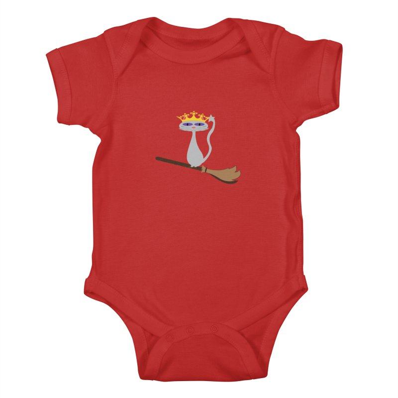 Princess Meera on a Broomstick Kids Baby Bodysuit by Magic Pixel's Artist Shop
