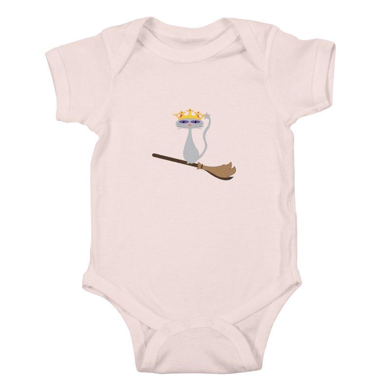 Princess Meera on a Broomstick Kids Baby Bodysuit by Magic Pixel's Artist Shop