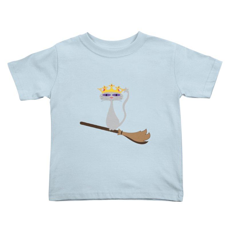 Princess Meera on a Broomstick Kids Toddler T-Shirt by Magic Pixel's Artist Shop