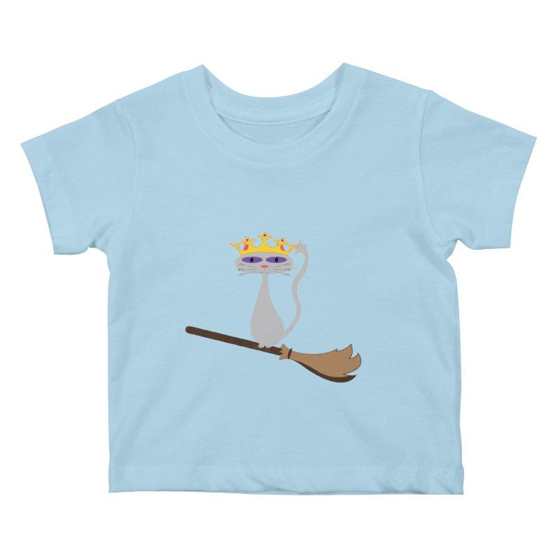 Princess Meera on a Broomstick Kids Baby T-Shirt by Magic Pixel's Artist Shop