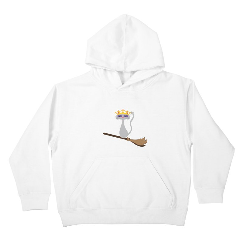 Princess Meera on a Broomstick Kids Pullover Hoody by Magic Pixel's Artist Shop