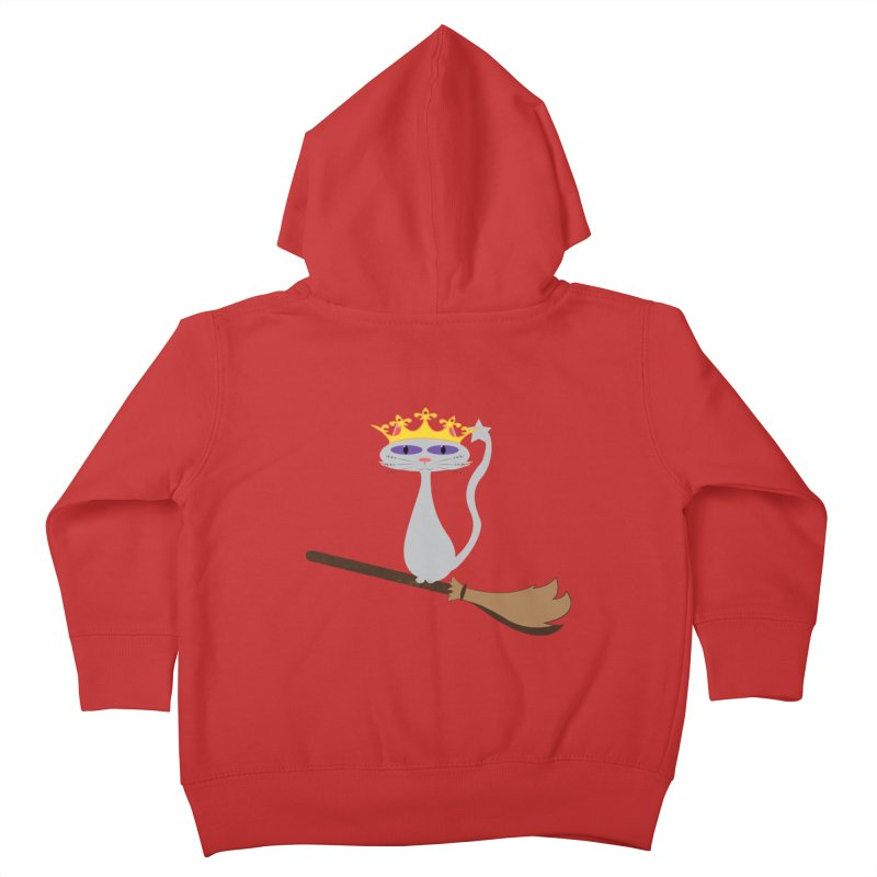 Princess Meera on a Broomstick Kids Toddler Zip-Up Hoody by Magic Pixel's Artist Shop