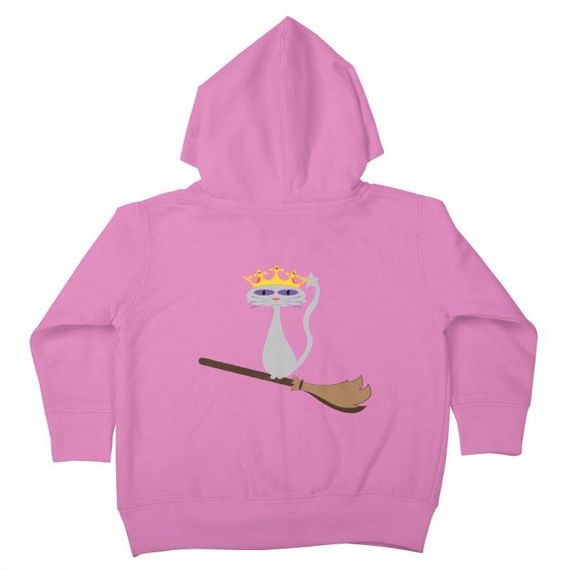Princess Meera on a Broomstick Kids Toddler Zip-Up Hoody by Magic Pixel's Artist Shop