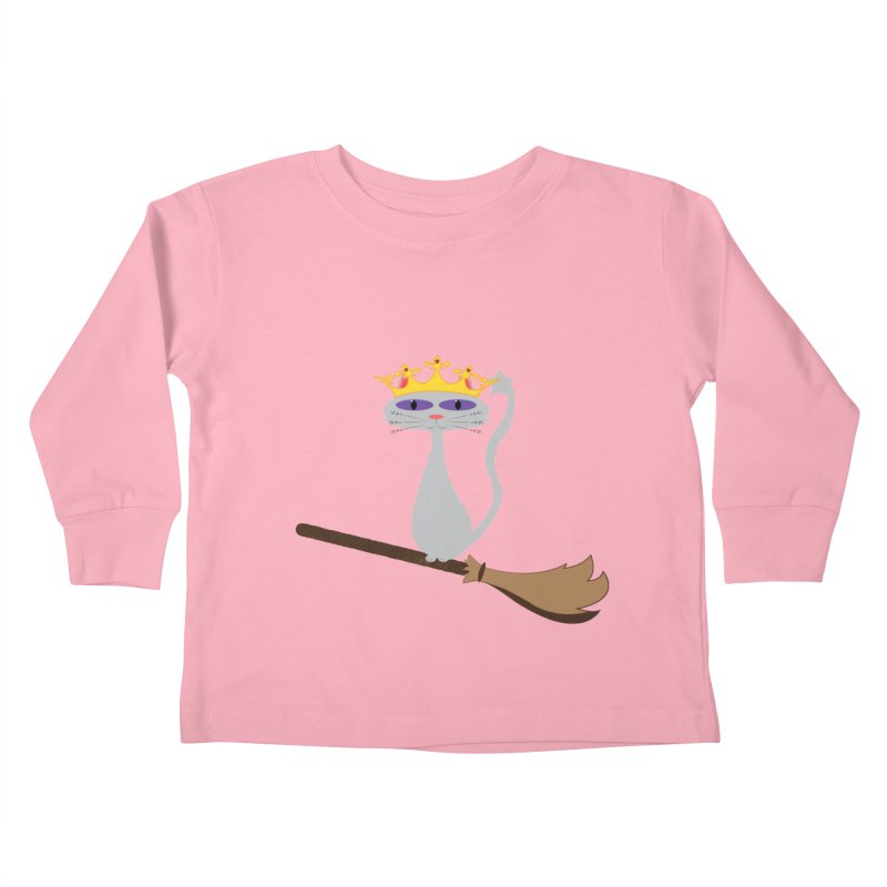 Princess Meera on a Broomstick Kids Toddler Longsleeve T-Shirt by Magic Pixel's Artist Shop