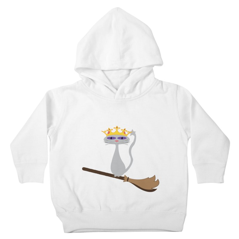 Princess Meera on a Broomstick Kids Toddler Pullover Hoody by Magic Pixel's Artist Shop