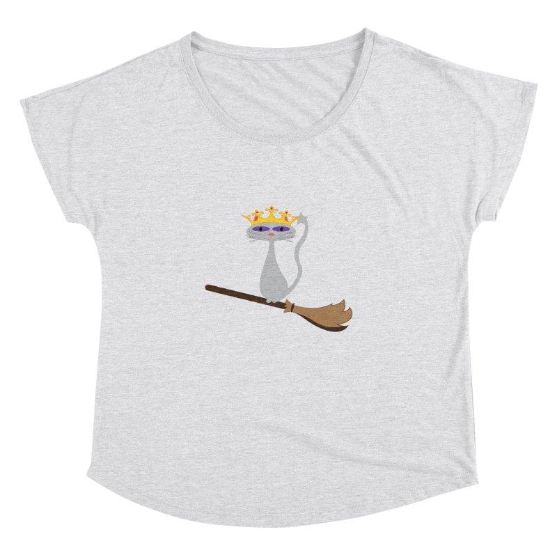 Princess Meera on a Broomstick Women's Dolman Scoop Neck by Magic Pixel's Artist Shop