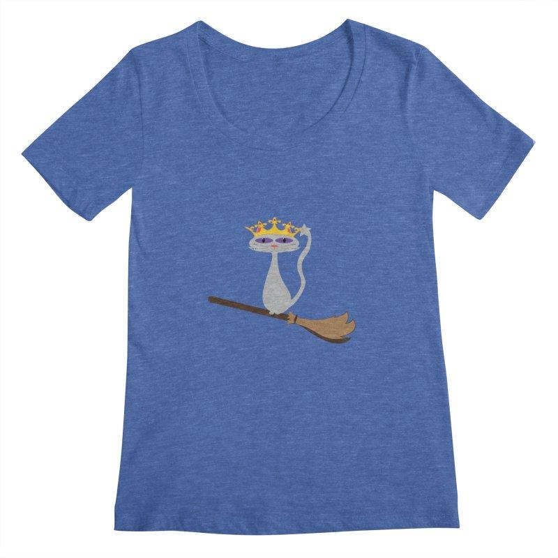 Princess Meera on a Broomstick Women's Regular Scoop Neck by Magic Pixel's Artist Shop
