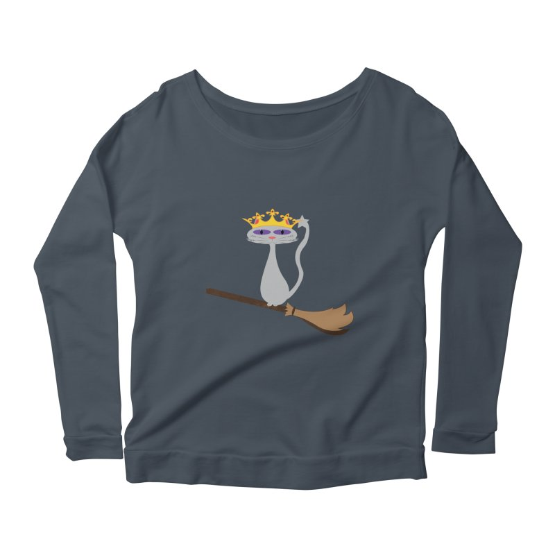 Princess Meera on a Broomstick Women's Scoop Neck Longsleeve T-Shirt by Magic Pixel's Artist Shop
