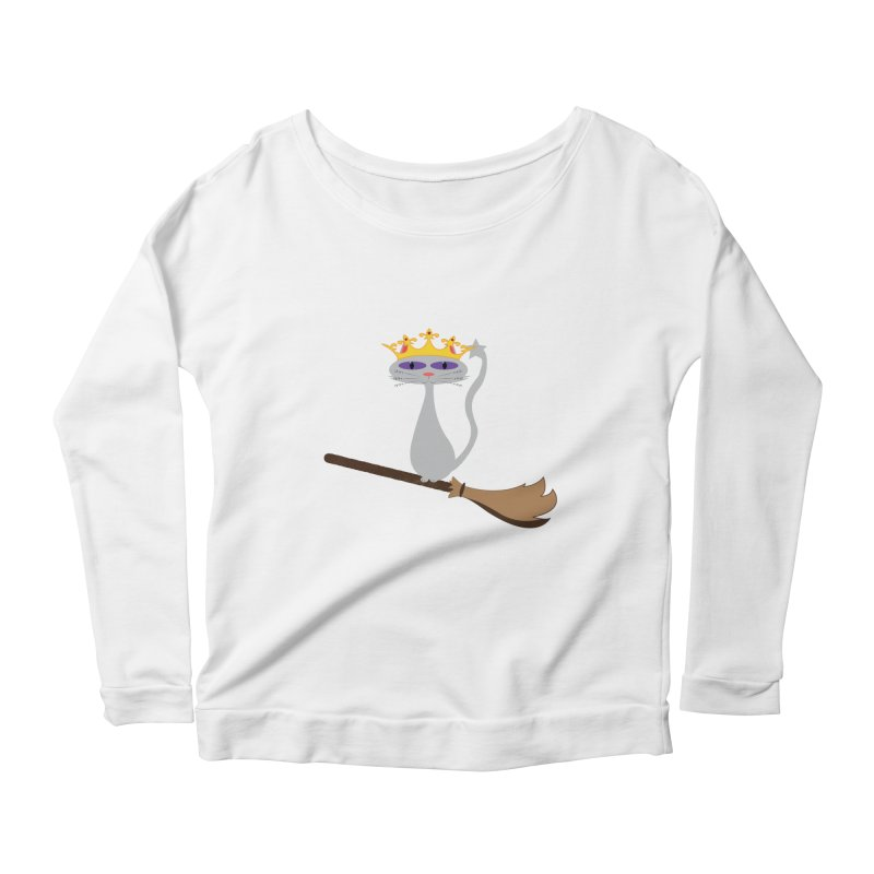Princess Meera on a Broomstick Women's Scoop Neck Longsleeve T-Shirt by Magic Pixel's Artist Shop