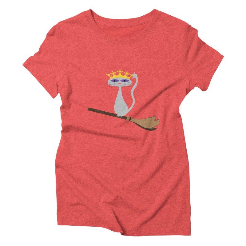 Princess Meera on a Broomstick Women's Triblend T-Shirt by Magic Pixel's Artist Shop