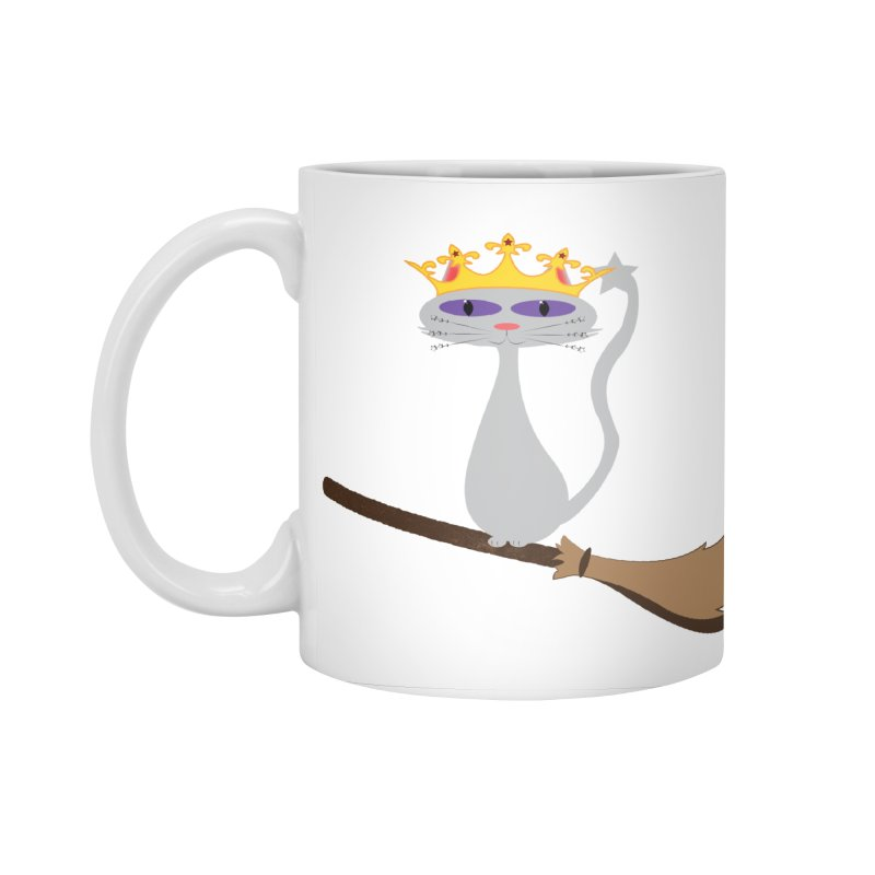 Princess Meera on a Broomstick Accessories Standard Mug by Magic Pixel's Artist Shop