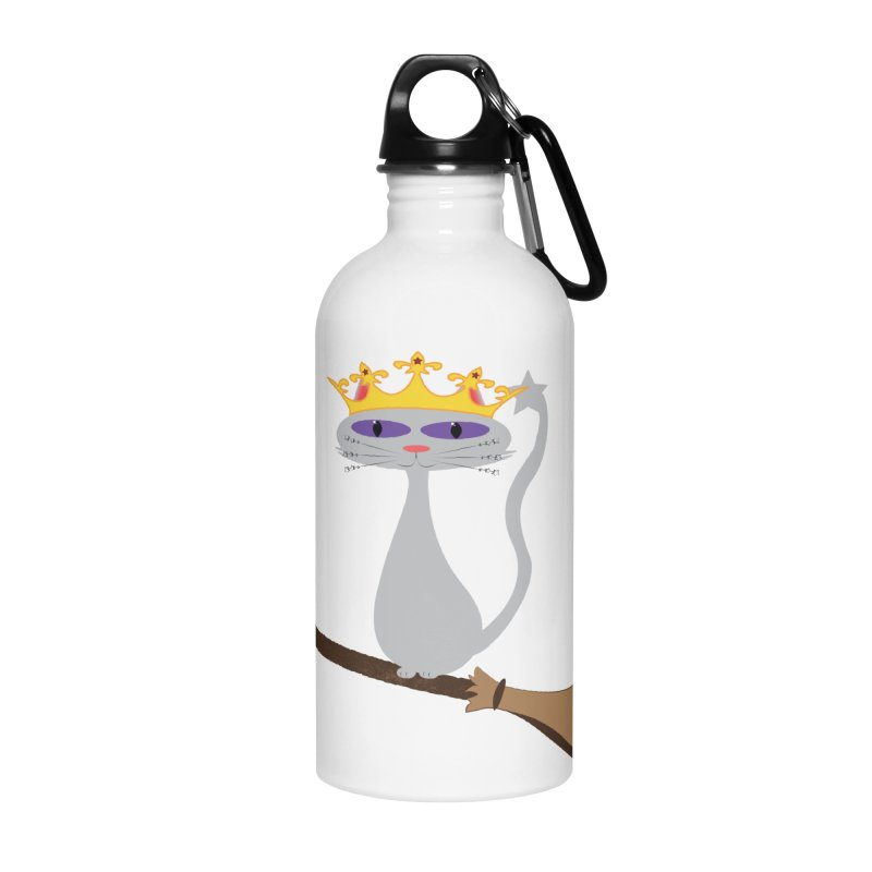 Princess Meera on a Broomstick Accessories Water Bottle by Magic Pixel's Artist Shop