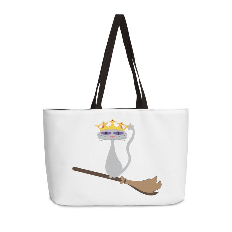 Princess Meera on a Broomstick Accessories Weekender Bag Bag by Magic Pixel's Artist Shop