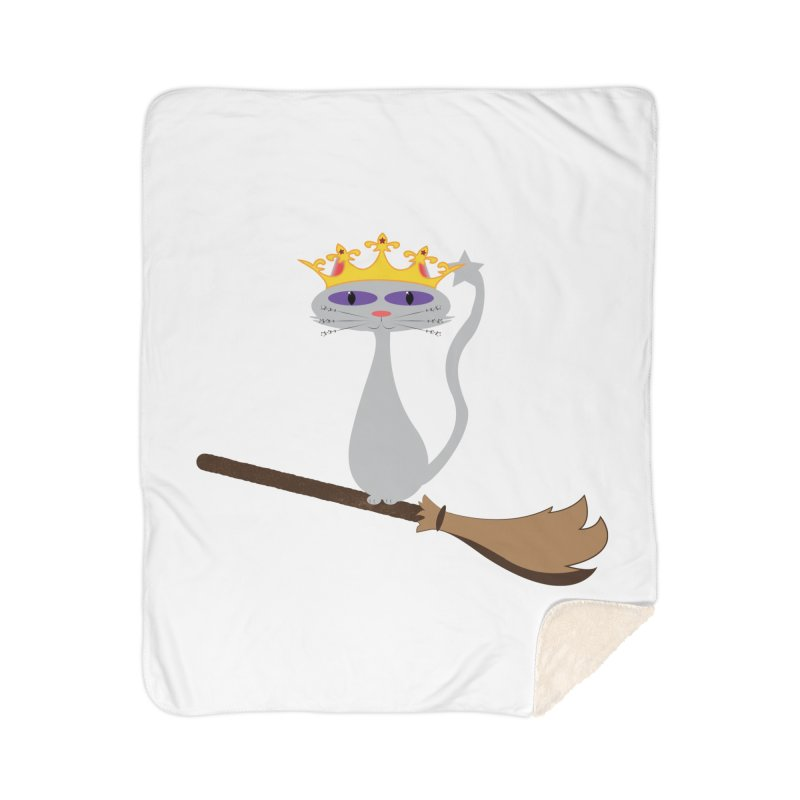 Princess Meera on a Broomstick Home Sherpa Blanket Blanket by Magic Pixel's Artist Shop