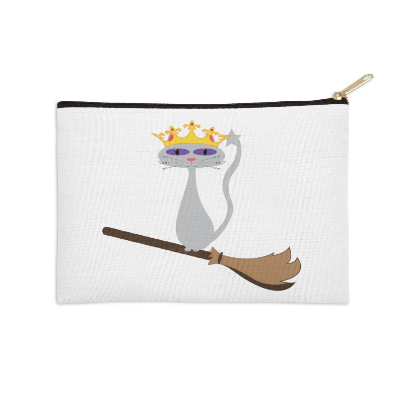 Princess Meera on a Broomstick Accessories Zip Pouch by Magic Pixel's Artist Shop