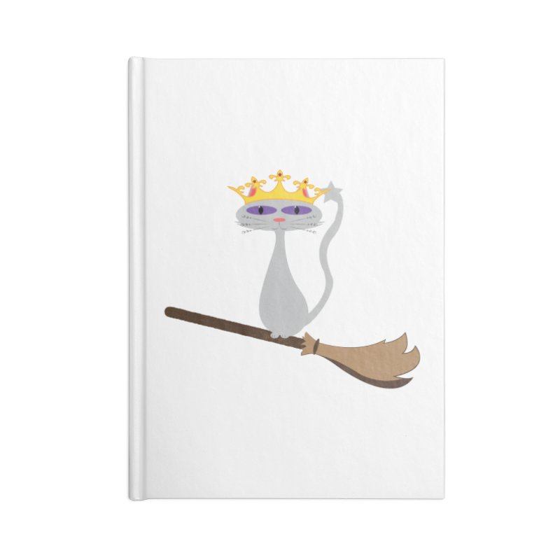 Princess Meera on a Broomstick Accessories Lined Journal Notebook by Magic Pixel's Artist Shop