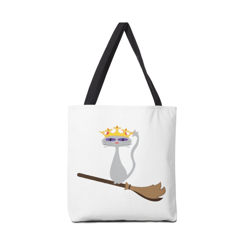 Princess Meera on a Broomstick Accessories Tote Bag Bag by Magic Pixel's Artist Shop