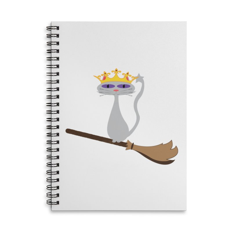 Princess Meera on a Broomstick Accessories Lined Spiral Notebook by Magic Pixel's Artist Shop